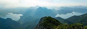 Panoramafoto van de top van Herzogstand van Hans-Heinrich Runge