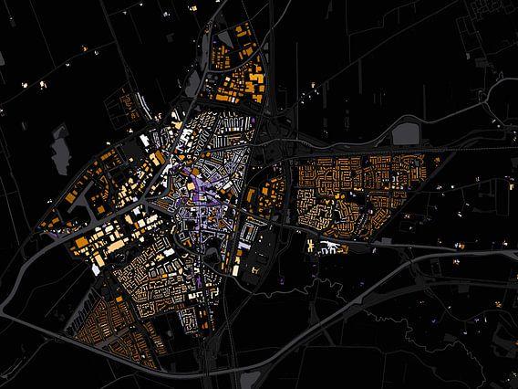 Kaart van Meppel abstract van Stef Verdonk