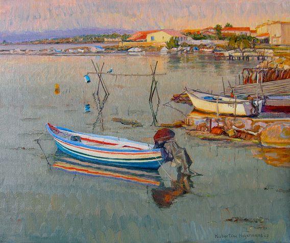 Leucate Frankrijk aan een baai van de Middellandse Zee. van Hubertine Heijermans