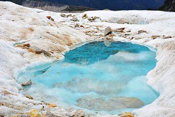 Un lac glaciaire bleu clair au Chili sur My Footprints