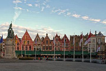 Bruges, Market Square von Michel De Pourcq
