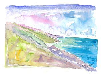 Spectaculair uitzicht op de Big Sur kust van Markus Bleichner