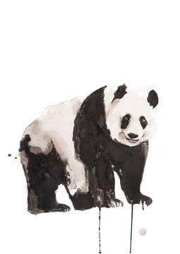 Print van een panda, bijzondere dieren illustratie van Angela Peters