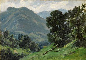 Carlos de Haes-Grüne Berglandschaft, Antike Landschaft