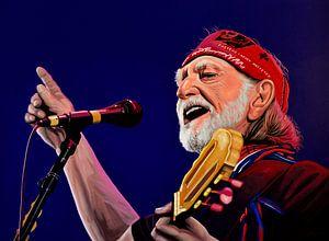 Willie Nelson schilderij