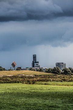 Blick auf Leeuwarden von Ritsumazijl aus von