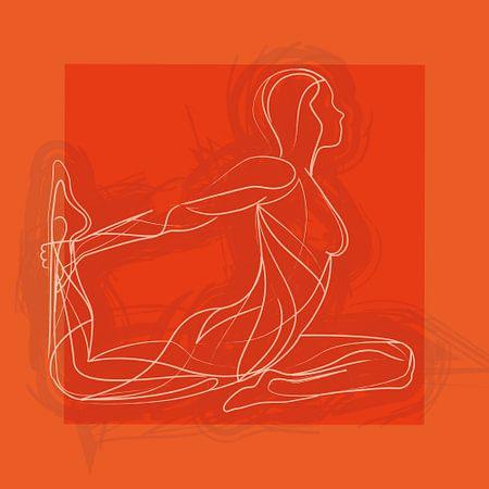 Bewegen is vrijheid en emotie (Oranje) van Color Square