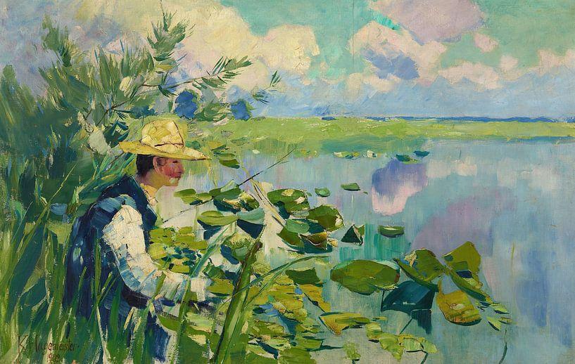 Karl Hagemeister-Mann am Teich (Der Fischer) von finemasterpiece