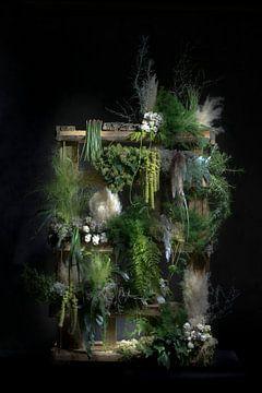 Öko-Turm aus Palette und Pflanzen von Marion Lemmen