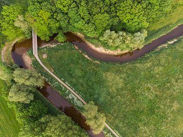 Fluss den Dinkel von oben von Cynthia Hasenbos