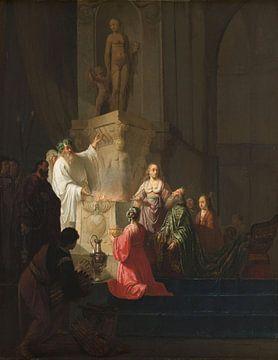 De afgoderij van koning Salomo, Willem de Poorter