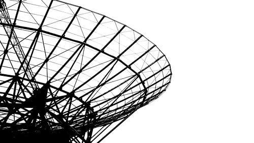 Abstract fragment van radiotelescoop in Westerbork
