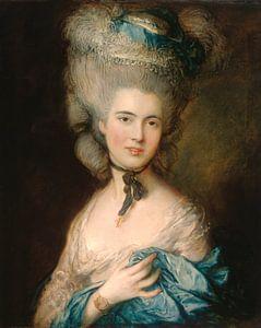 Vrouw in Blue, Thomas Gainsborough.