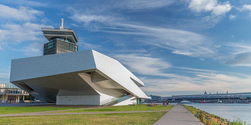 Cinema Eye en het voormalige Shell toren in Amsterdam van Menno Schaefer