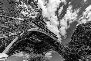 Eiffelturm in Schwarz und Weiß