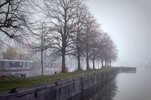 Merwedekanaal in de mist