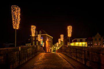 Roermond by night, Maria Theresiabrug (Stenen Brug) van Carola Schellekens