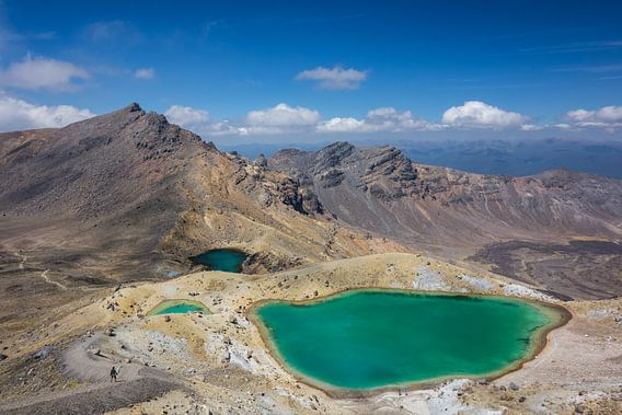 Emerald Lake. Tongariro Alpine Nationaal Park  van Tessa Louwerens