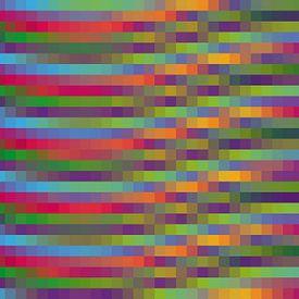 Mozaïek van kubussen in verschillende kleuren van Jolanta Mayerberg