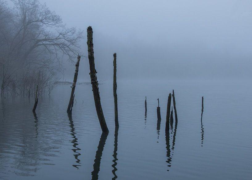 Het meer in de mist van Pieter Navis