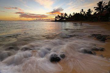 Zonsondergang op het strand sur Antwan Janssen