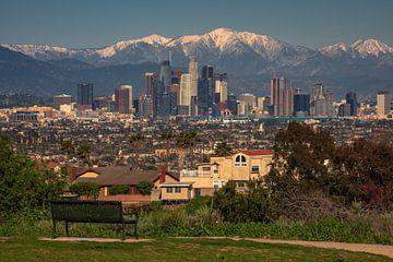 Een bankje met uitzicht, Los Angeles van Reinier Snijders