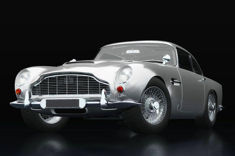 Aston Martin DB5 drie-kwart zicht van Jan Keteleer