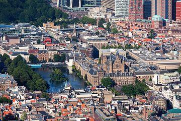 Vue aérienne Binnenhof La Haye sur Anton de Zeeuw