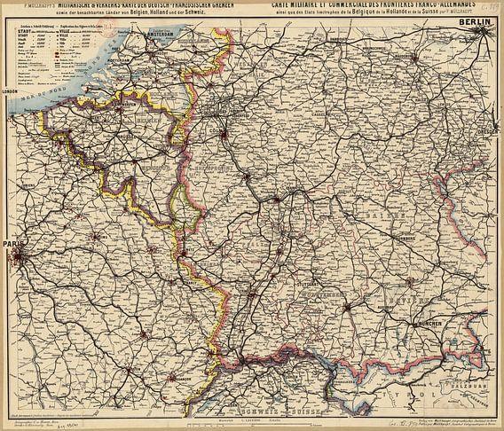 Duits-Franse Grens, Kaart 1885