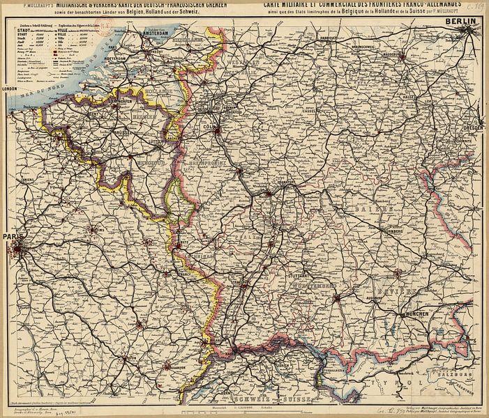 Deutsch-französische Grenze, Karte 1885 von Atelier Liesjes
