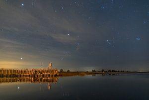 Sterrenhemel boven het lauwersmeer