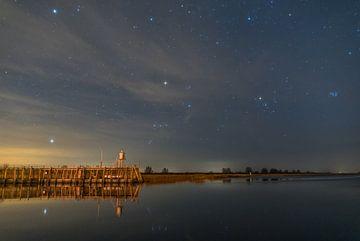 Sterrenhemel boven het lauwersmeer von peter tulner