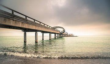 Zeebrug hemel en zee van Werner Reins