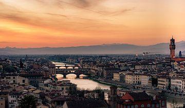 Florence Skyline van Mario Calma
