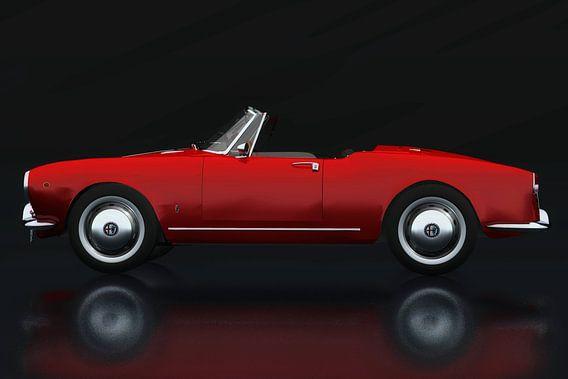 Alfa Romeo Giulietta 1300 Spyder 1955 Zijaanzicht