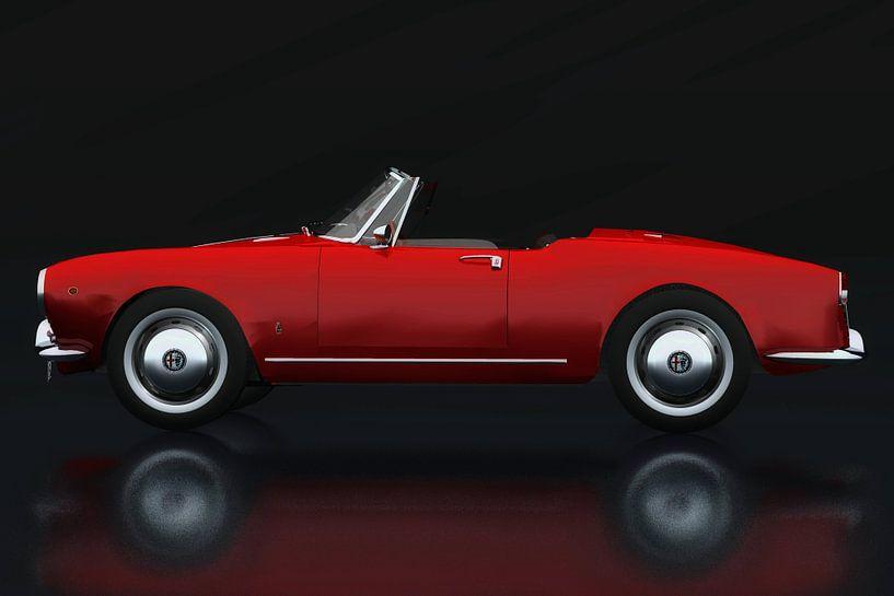 Alfa Romeo Giulietta 1300 Spyder 1955 Zijaanzicht van Jan Keteleer
