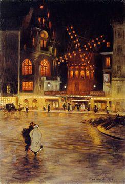 La place blanche en de moulin rouge - 1902 van Atelier Liesjes