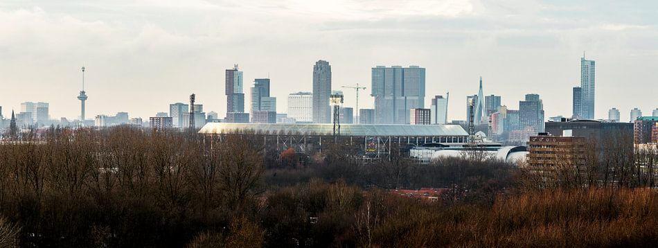 De Kuip Feyenoord Rotterdam with Lights van Midi010 Fotografie