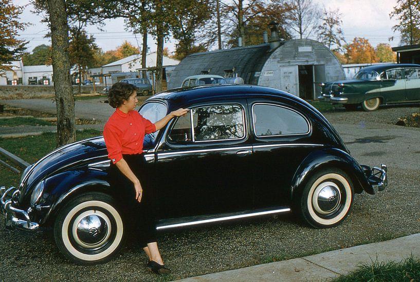 Vintage foto VW Kever 1956 van Jaap Ros