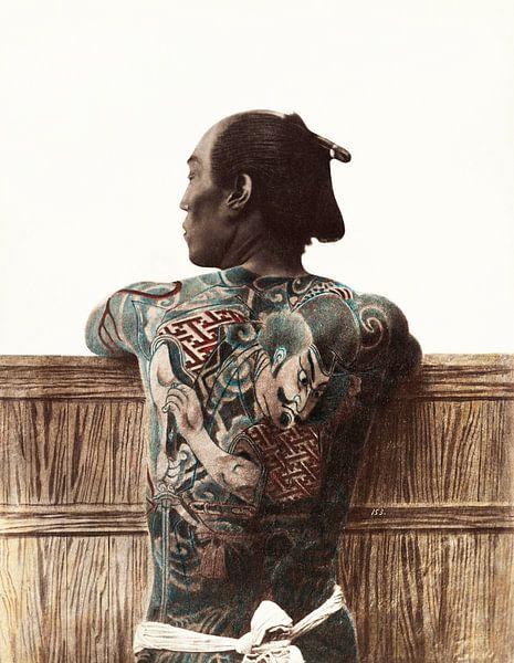 Japanisches Tattoo, Vintage Foto von Atelier Liesjes