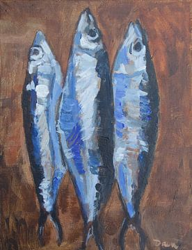 Le trois sardines van Mieke Daenen