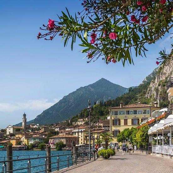 GARDASEE Idyllische Uferpromenade in Limone sul Garda  van Melanie Viola
