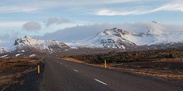 Typisch IJslandse weg van Albert Mendelewski