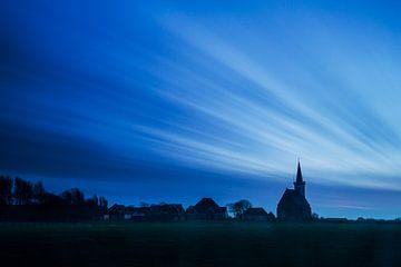 Kirche von Den Hoorn auf Texel von Beschermingswerk voor aan uw muur
