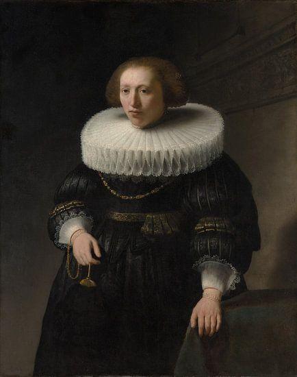 Portret van een Vrouw, Rembrandt