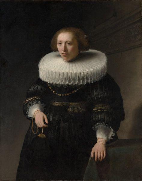 Portret van een Vrouw, Rembrandt van Meesterlijcke Meesters
