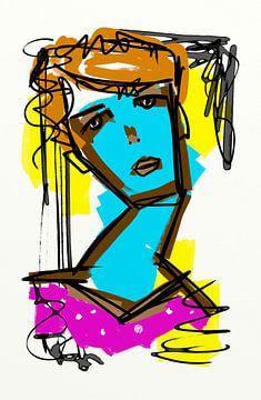 Mädchen Blau von Jolanda Janzen-Dekker
