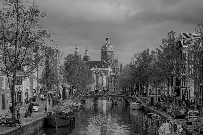 Oudezijds Achterburgwal Amsterdam van Peter Bartelings