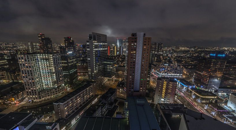 Rotterdam at Night van AdV Photography
