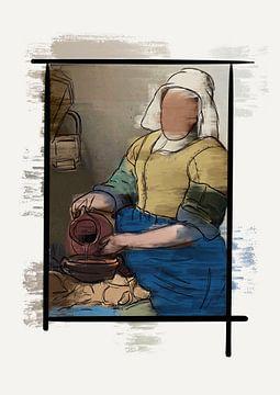 Het melkmeisje Modern van Romee Heuitink